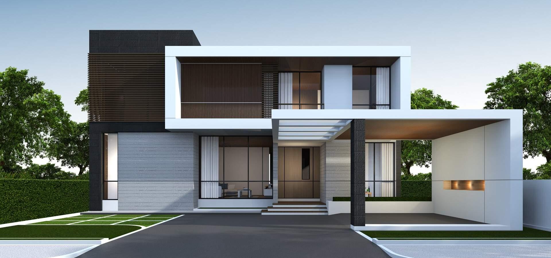 Projekt moderního ekologického rodinného domu