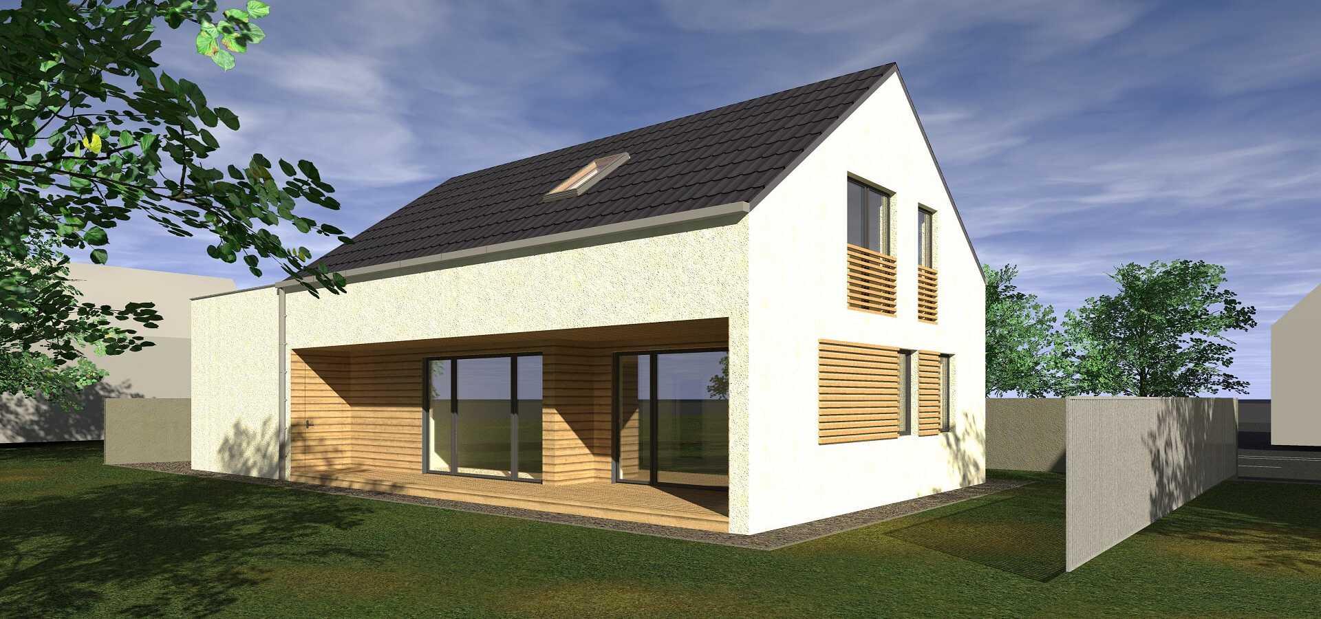 Projekt moderního venkovského rodinného domu